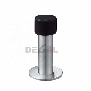 China cheap hardware accessories stainless steel floor-mounted mini round floor door stop