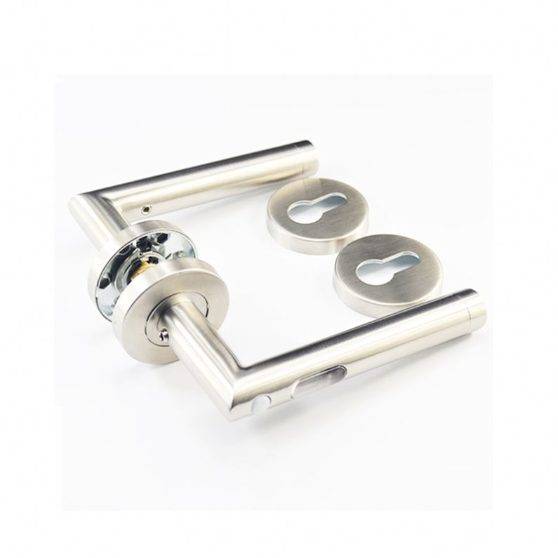 Wholesale Fancy stainless steel tube lever type handles for plastic containers