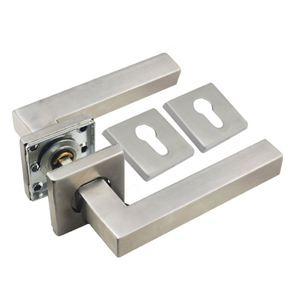 Square Stainless Steel Solid Type Toilet Door Handles