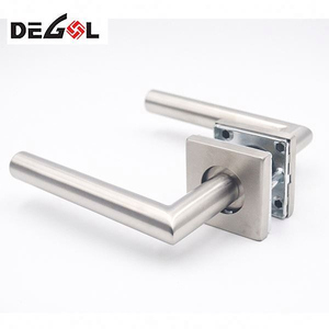 Good Quality Entry Door Lever Handle With Plate