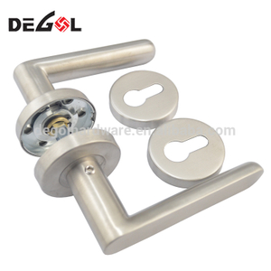 Fancy stainless steel cheap tube lever type fireproof commercial stainless door handles prices