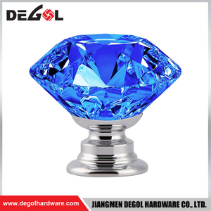 CK001 Crystal Glass Door Knobs Diamond Drawer Cabinet Furniture Handle Knob Kitchen