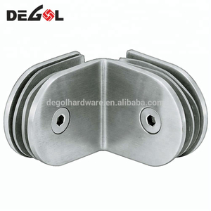 GC1005 90 degree stainless steel clips to glass clamp