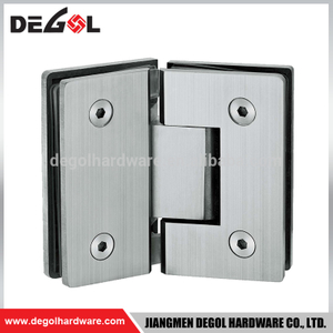 Top quality stainless steel 90 degree glass shower door hinges for sauna glass door