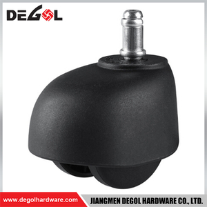 FC1003 Plastic small black wheel decorative furniture casters with brake