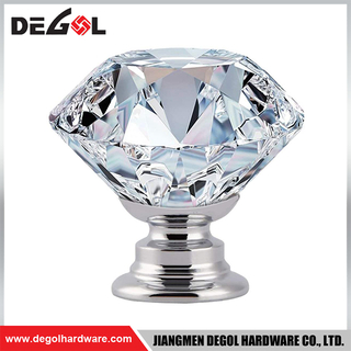 CK001 Good Selling Crystal Glass Bedroom Furniture Handles