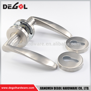 China Wholesale stainless steel heavy duty solid lever type self locking door handle