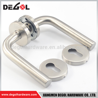 Top quality north america entrance stainless steel tube lever inside door handle