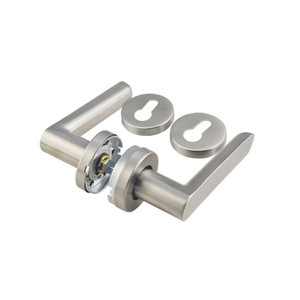 Hot Sale Right Angle Tube Lever Round Rosette Hot Sale Door Handle Stainless Steel