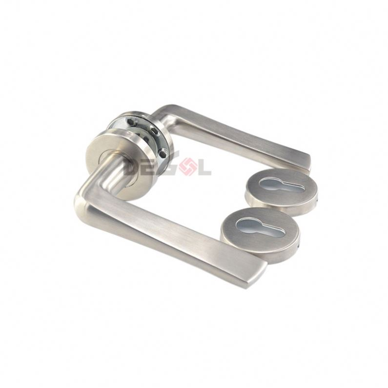Top quality Luxury interior room stainless steel custom made solid lever door handle for interior