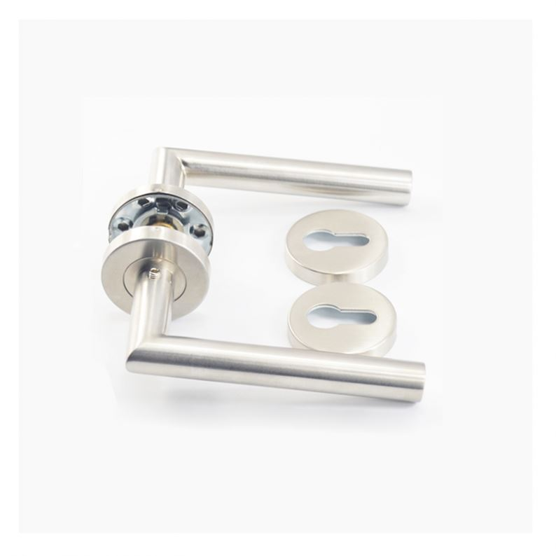 Hot sale stainless steel tube lever curved shape interior unusual door handles