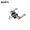 Door Wave Lever Lockset,satin Nickel Interior Tubular Lock Tubular Lockset Double Sided Door Handle Lock
