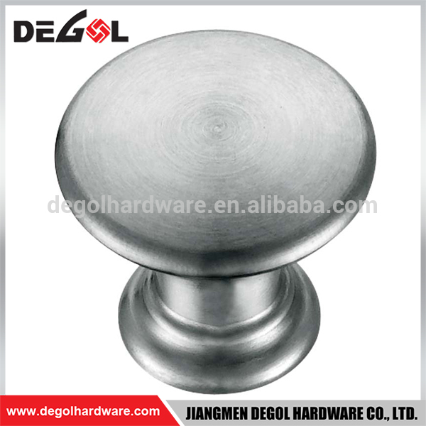 Hot sale stainless steel cheap decorative cylinder small drawer knobs for cupboard