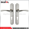 Hot sale luxury heavy duty solid lever stainless steel long plate handle for wooden door