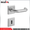 LH1122 New style stainless steel solid lever rustic door handles on rosette