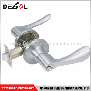 BDL1014 Popular in North American Tubular Lever Door Handle Lock for Bathroom