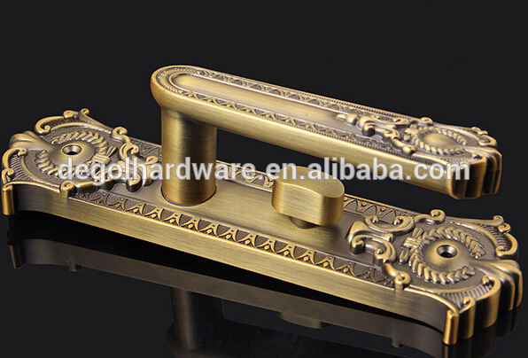 China Best price Classical style zinc alloy american door handle with decoration