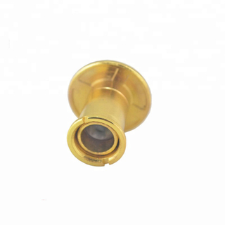 High Quality 290 degree peephole wide angle door brass viewer