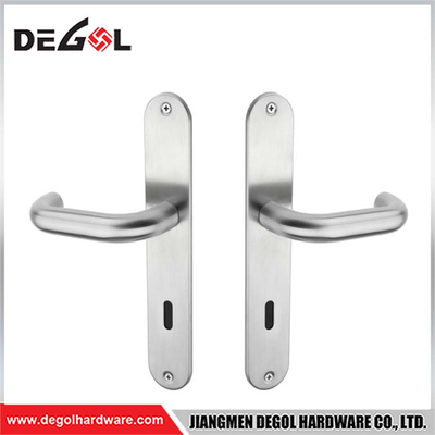 Hot Sell Simple Alu Door Handle Base On Iron Plate