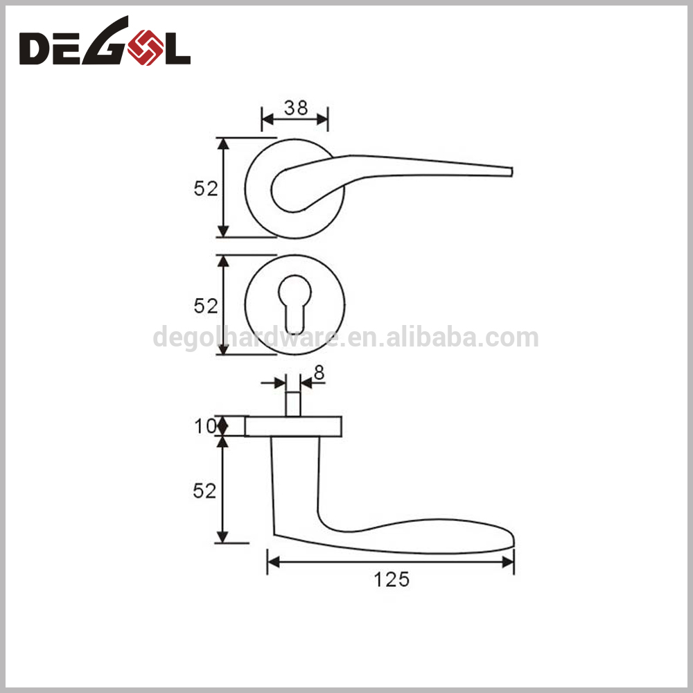 China supplier high end apartment interior tube pipe lever polished stainless steel door handle
