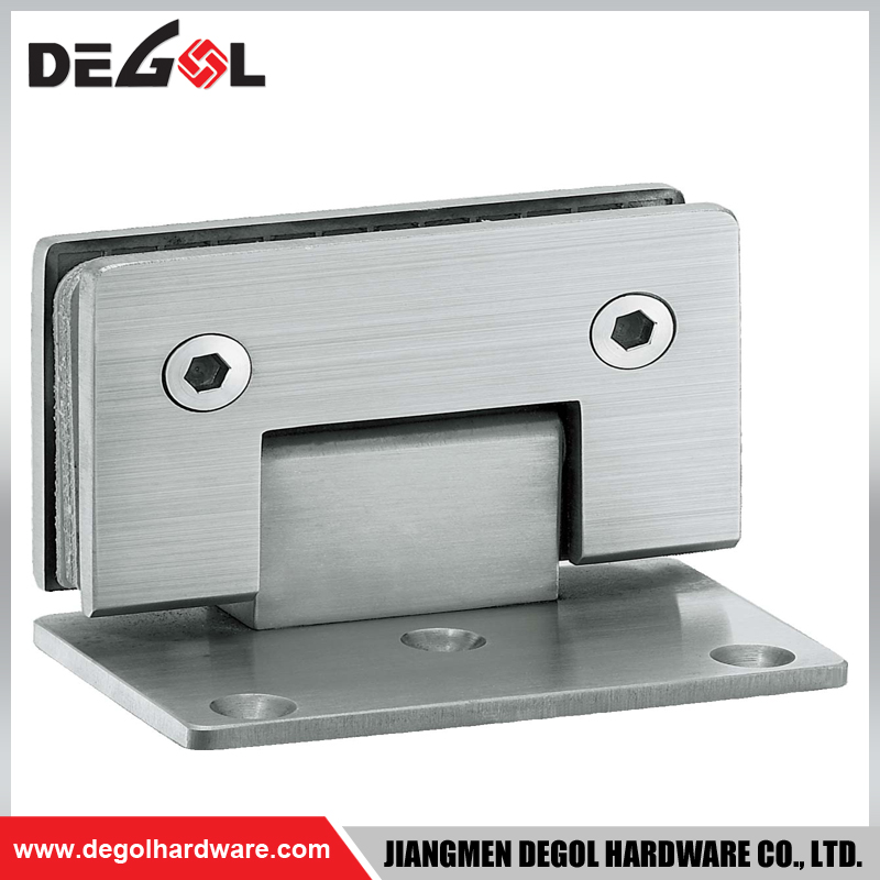 right angle bathroom glass to wall glass clamp shower hinge