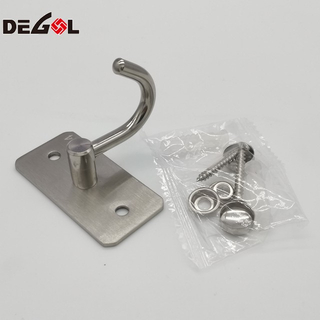 New Product Stainless Steel Gloden Coat Double Hanging Hook
