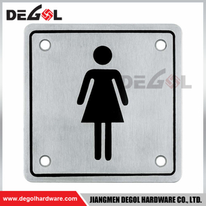 Sign Plate Type Rust-proof Plate for Washroom Door Toilet 304SS Stainless Sign Plate
