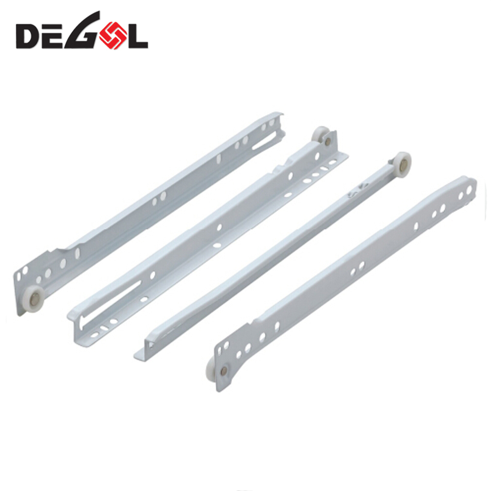 Metal Box Drawer Slides with Plastic Wheel And Dowels