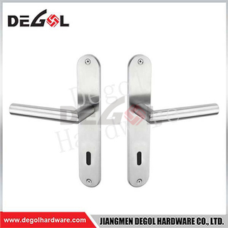 Latest Design European Door Handle Lock On Long Plate