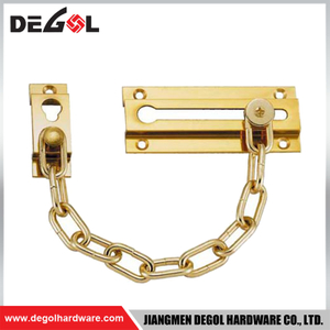 DC1007 Door hardware front gold door chain