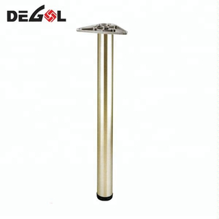 Round long height adjustable iron metal table leg extensions