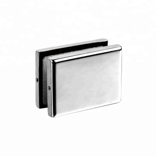 Square glass door high class stainless steel patch fittings for bathroom