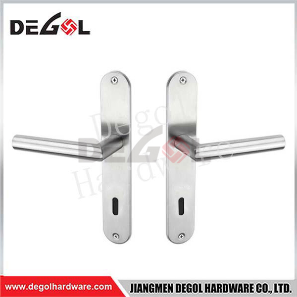 Cheap Price Vertical Unique Design Zinc Alloy Door Handle On Plate