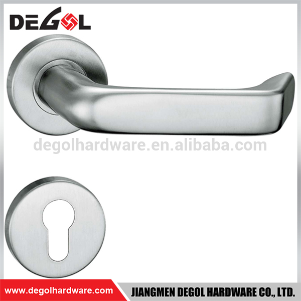 Guangdong manufacturer in china double sided factory stainless steel solid lever door handle