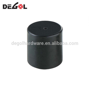 China promotional decorative black cylinder draft soft rubber door stopper