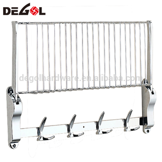 Chinese High quality Stainless steel foldable hotel bathroom commercial towel rack