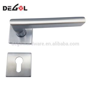 Square cover american style stainless steel latest right angel door handle