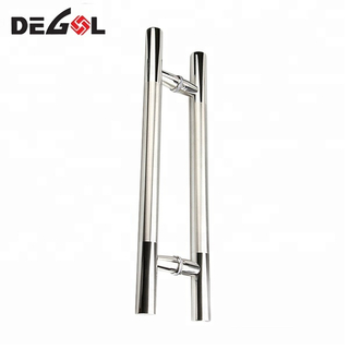 Hot sale modern stainless steel H shape sliding interior cheap pull handle glass door
