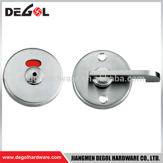 Modern high quality fancy China make stainless steel bathroom door indicator lock