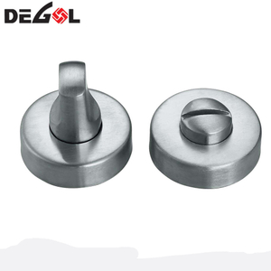 Round Toilet Partition Indicator Stainless Steel Turn Knob for WC