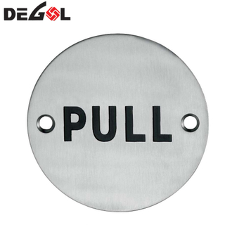 Top Quality Stainless Steel Door Plate Sign Plate Push Plate
