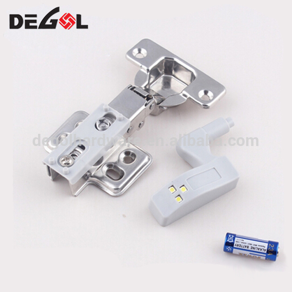 High quality hydraulic soft close cabinet insert hinge with LED light
