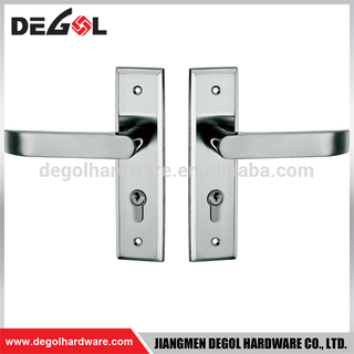 Top quality stainless steel fire proof interior solid lever door handles with plate