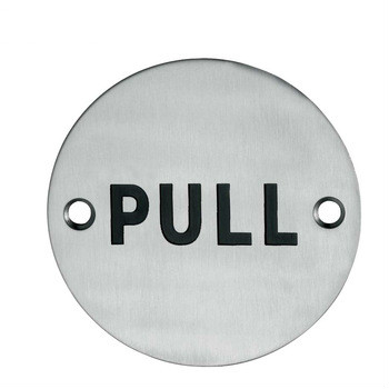 Customized SS 201/304 Pull And Push Door Sign Plate