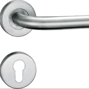 High quality simple modern style 19mm tube lever stainless steel lever door handle
