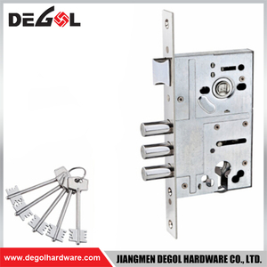 Best selling good quality italian stainless steel Three Latch Mortise Lock