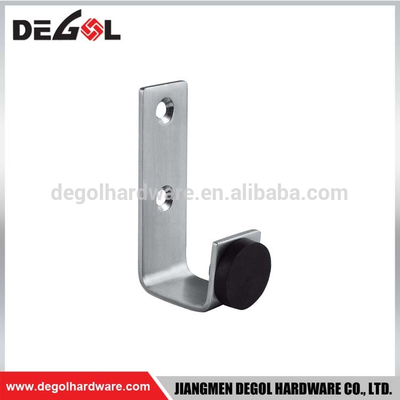 Decorative rubber door mounted stainless steel hook door stopper